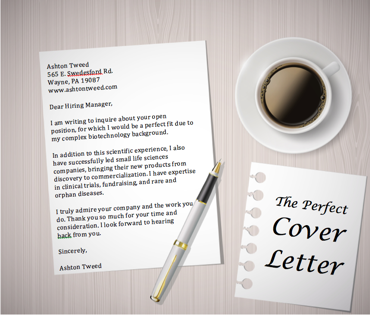 writing a perfect cover letter